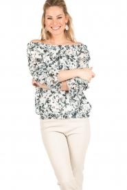Patrizia Pepe | Off-shoulder blouse Mhairi | print  | Afbeelding 2