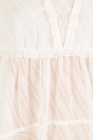 Patrizia Pepe | Semi-sheer blouse Vera | wit  | Afbeelding 6