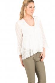 Patrizia Pepe   Semi-sheer blouse Vera   wit    Afbeelding 4