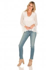 Patrizia Pepe | Semi-sheer blouse Vera | wit  | Afbeelding 3