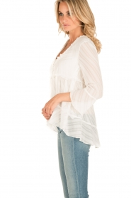 Patrizia Pepe | Semi-sheer blouse Vera | wit  | Afbeelding 4