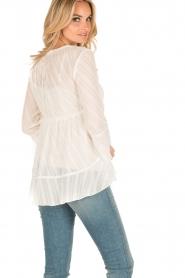 Patrizia Pepe | Semi-sheer blouse Vera | wit  | Afbeelding 5