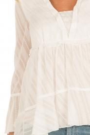 Patrizia Pepe | Semi-sheer blouse Vera | wit  | Afbeelding 7