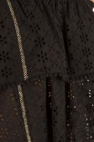Patrizia Pepe | Off-shoulder top Flora | zwart  | Afbeelding 6