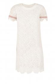 Patrizia Pepe | Kanten jurk Fiorenza | wit  | Afbeelding 1