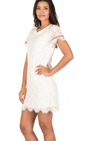 Patrizia Pepe | Kanten jurk Fiorenza | wit  | Afbeelding 4