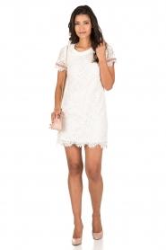 Patrizia Pepe | Kanten jurk Fiorenza | wit  | Afbeelding 3