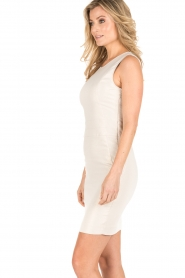 Patrizia Pepe |  Sleeveless cocktail dress Jaclyn | light gold  | Picture 4