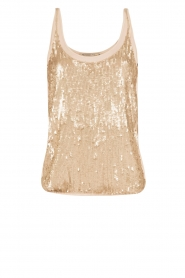 Pailletten top Fay | goud