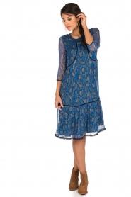 ba&sh | Zijden jurk Ora | blauw  | Afbeelding 3