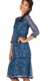 ba&sh | Zijden jurk Ora | blauw  | Afbeelding 4