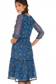 ba&sh | Zijden jurk Ora | blauw  | Afbeelding 5
