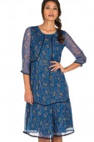 ba&sh | Zijden jurk Ora | blauw  | Afbeelding 2