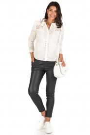 ba&sh | Crochet blouse Emalia | wit  | Afbeelding 3