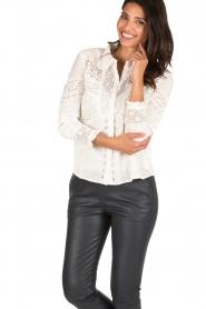 ba&sh | Crochet blouse Emalia | wit  | Afbeelding 2