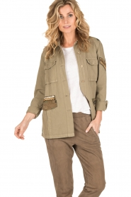 MASONS | Cargo jacket met patches Faro | khaki  | Afbeelding 2