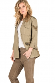 MASONS | Cargo jacket met patches Faro | khaki  | Afbeelding 3