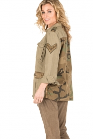 MASONS | Cargo jacket met patches Faro | khaki  | Afbeelding 4