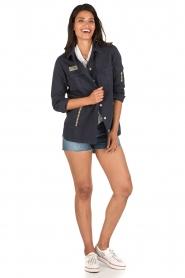 MASONS | Utility jas Field Jacket | blauw  | Afbeelding 3