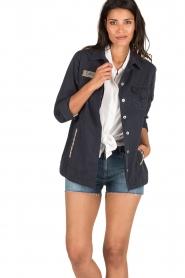 MASONS | Utility jas Field Jacket | blauw  | Afbeelding 2