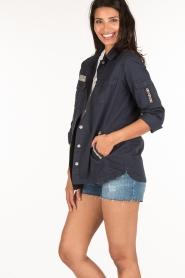 MASONS | Utility jas Field Jacket | blauw  | Afbeelding 4