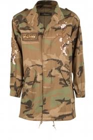MASONS | Cargo jacket met legerprint Flora | groen  | Afbeelding 1