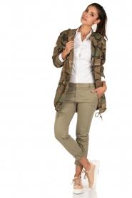 MASONS | Cargo jacket met legerprint Flora | groen  | Afbeelding 3