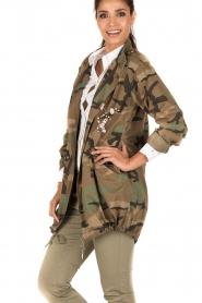 MASONS | Cargo jacket met legerprint Flora | groen  | Afbeelding 4