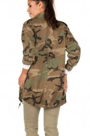 MASONS | Cargo jacket met legerprint Flora | groen  | Afbeelding 5