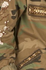 MASONS | Cargo jacket met legerprint Flora | groen  | Afbeelding 6