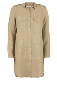 MASONS | Linnen blousejurk Azeilia | legergroen  | Afbeelding 1
