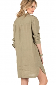 MASONS | Linnen blousejurk Azeilia | legergroen  | Afbeelding 5
