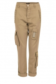 Girlfriend cargo broek met patches Chile | khaki