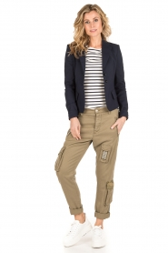 MASONS | Girlfriend cargo broek met patches Chile | khaki  | Afbeelding 3