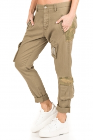 MASONS | Girlfriend cargo broek met patches Chile | khaki  | Afbeelding 4