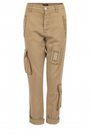 MASONS | Girlfriend cargo broek met patches Chile | khaki  | Afbeelding 1