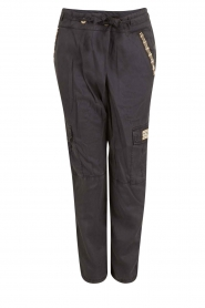 MASONS |  Chino trousers Combat | dark blue  | Picture 1