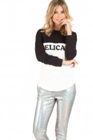 Zoe Karssen | Sweater Delicato | zwart/wit  | Afbeelding 2