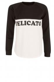 Zoe Karssen | Sweater Delicato | zwart/wit  | Afbeelding 1