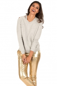 Zoe Karssen | Sweater Destroyed | grijs  | Afbeelding 2