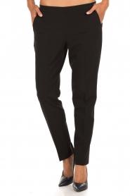 Leon & Harper | Pantalon Pauline | zwart  | Afbeelding 2