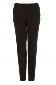 Leon & Harper | Pantalon Pauline | zwart  | Afbeelding 1