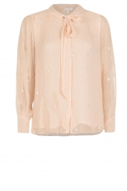 Hoss Intropia | Pussybow blouse Kim | roze  | Afbeelding 1