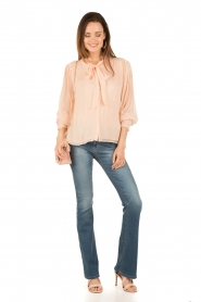 Hoss Intropia | Pussybow blouse Kim | roze  | Afbeelding 3