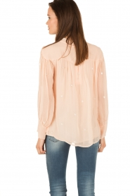 Hoss Intropia | Pussybow blouse Kim | roze  | Afbeelding 5