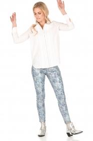 Hoss Intropia | Slim fit broek Alanza | blauw/metallic  | Afbeelding 3