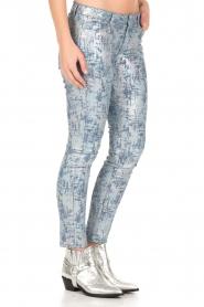 Hoss Intropia | Slim fit broek Alanza | blauw/metallic  | Afbeelding 4
