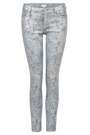 Hoss Intropia | Slim fit broek Alanza | blauw/metallic  | Afbeelding 1