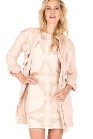 Hoss Intropia |  Long coat Kasare | old pink  | Picture 2