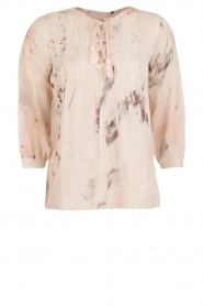 Hoss Intropia | Lace-up blouse Rosanna | roze  | Afbeelding 1